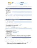 Formulaire – Demande de branchement domestique