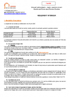 Règlement intérieur Périscolaire – 2021